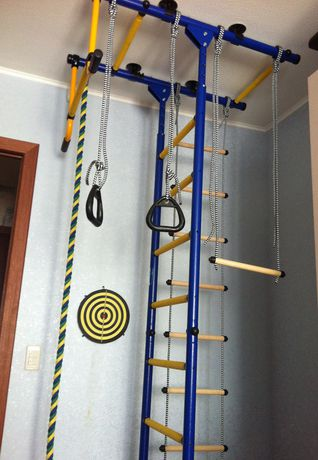 Limikids Comet-2.06 Home Gym - metal rungs covered with plastic with massage bumps- Blue-yellow - image 8 of 9