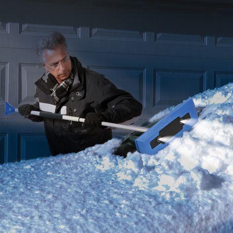 49 Inch Telescoping Snow Broom Windshield Ice Scraper Car Roof Hood Foam Head