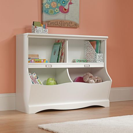 Sauder® Pogo Collection Bookcase/Footboard, Soft White, 414436 - image 2 of 3