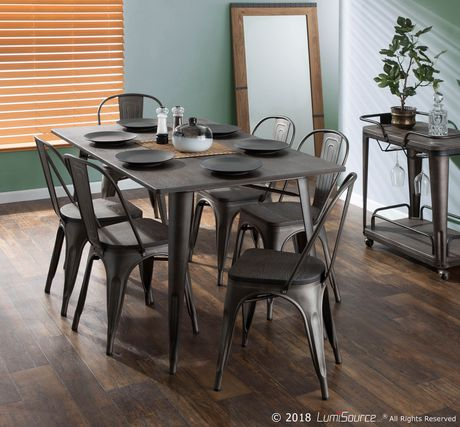 Oregon Industrial  Dining Table by LumiSource - image 6 of 7