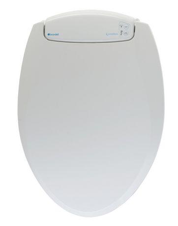 Siège chauffant de toilettes avec veilleuse-ronde blanc- LumaWarm - image 1 de 4