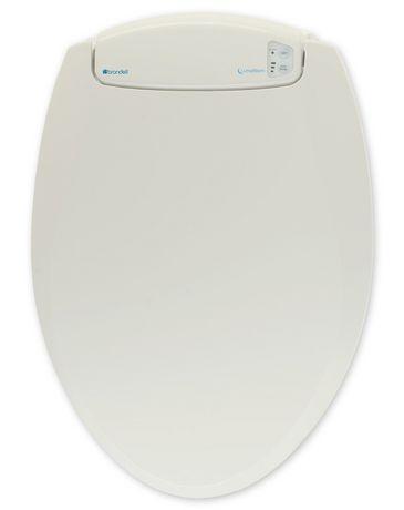 Siège chauffant de toilettes avec veilleuse-ronde blanc cassé - LumaWarm - image 1 de 5