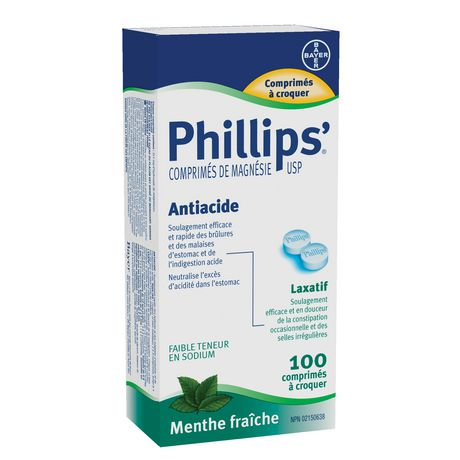 Bayer Healthcare Consumer Care Phillips'® Milk of Magnesia - 100 Chewable Tablets - image 2 of 2