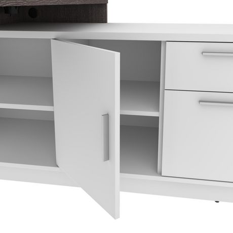 Bestar Equinox 2-Piece Set Including 1 L-Shaped Desk and 1 Storage Unit with 8 Cubbies - image 7 of 9