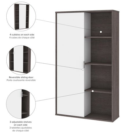 Bestar Equinox 2-Piece Set Including 1 L-Shaped Desk and 1 Storage Unit with 8 Cubbies - image 9 of 9