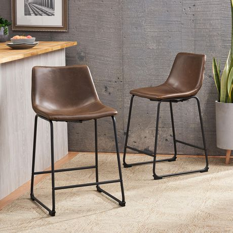Cedric Vintage Brown Counter Stool - image 1 of 5