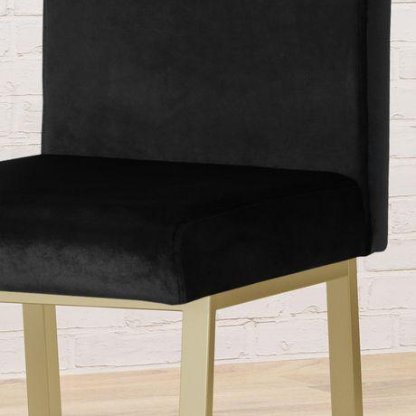 Toucanet Modern Velvet Barstools, Black and Brass (Set of 2) - image 2 of 5