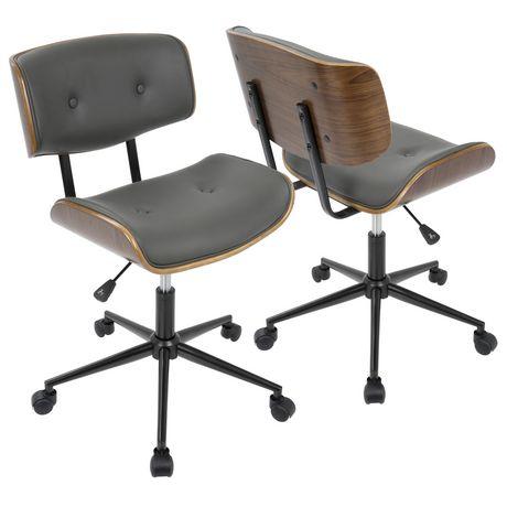 lombardi mid century modern office chair by lumisource walmart canada rh walmart ca Mid Century Modern Chair Styles Mid Century Modern Wood Office Chairs
