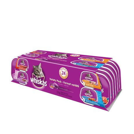 Whiskas Recloseable Wet Food Trays Recloseable Tray 24 Variety Pack - image 3 of 6