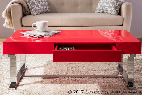 Luster Contemporary Coffee Table by LumiSource - image 7 of 8