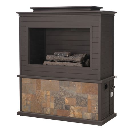 Sunjoy Napa Slate and Steel 63inch LP Fireplace Heating - image 2 of 9