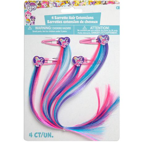 My Little Pony Barette Hair Extensions | Walmart Canada