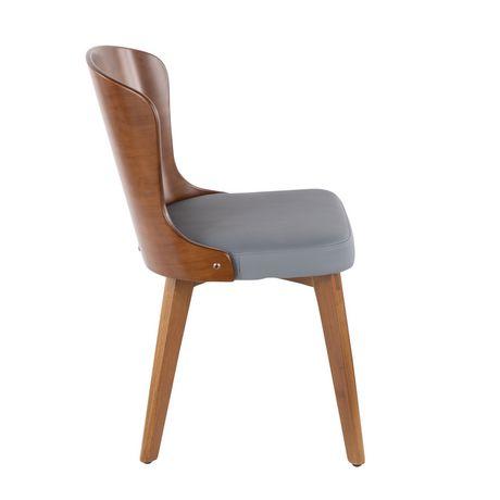 Bocello Mid Century Modern Chair By Lumisource Walmart