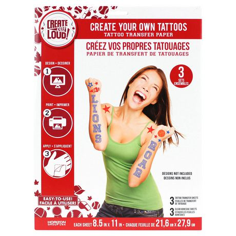Create Out Loud Create Your Own Tattoos Tattoo Transfer Paper ...