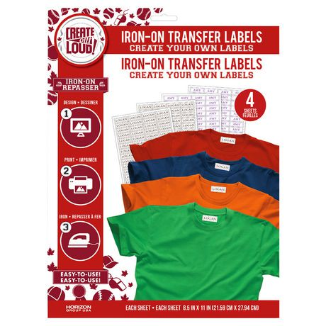 How to make your own iron on labels kamos t shirt for How to print your own labels at home