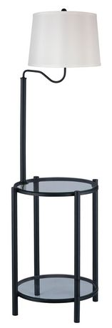 Mainstays floor lamp with glass table walmartca for Mainstays floor lamp with table reviews