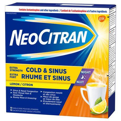 NeoCitran Extra Strength Cold & Sinus Night Lemon - image 1 of 7
