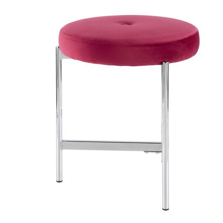 Chloe Contemporary Vanity Stool by LumiSource - image 2 of 7