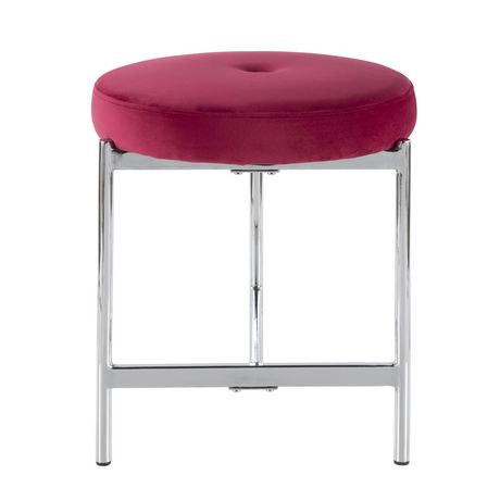 Chloe Contemporary Vanity Stool by LumiSource - image 5 of 7