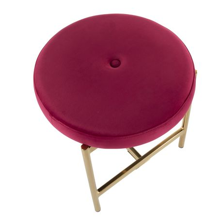 Chloe Contemporary Vanity Stool by LumiSource - image 6 of 7