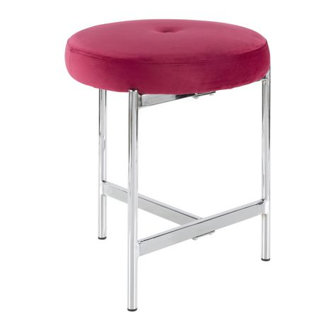 Chloe Contemporary Vanity Stool by LumiSource - image 1 of 7