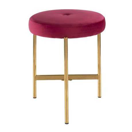 Chloe Contemporary Vanity Stool by LumiSource - image 4 of 7