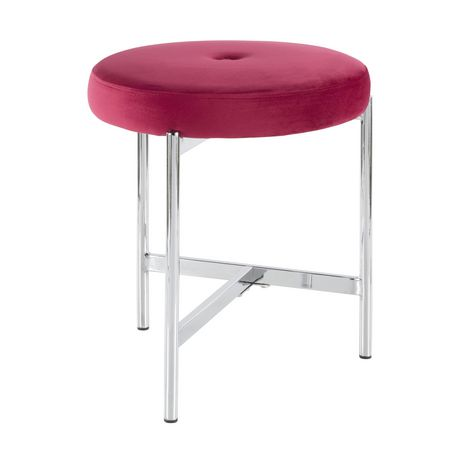 Chloe Contemporary Vanity Stool by LumiSource - image 3 of 7
