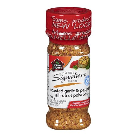 Club House, Quality Natural Herbs & Spices, Signature Blend, Roasted Garlic&Pepper 144g - image 1 of 3