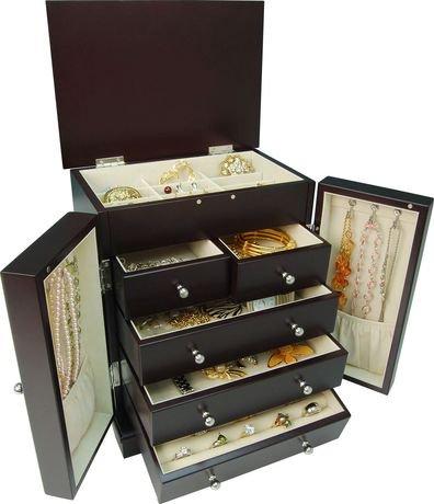 Gunther mele java wardrobe style jewellery box walmart for Jewelry box walmart canada