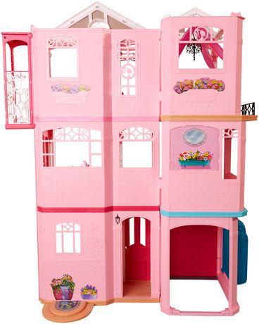 Maison de r ve de barbie avec plus de 70 accessoires walmart canada - Barbie maison de reve ...