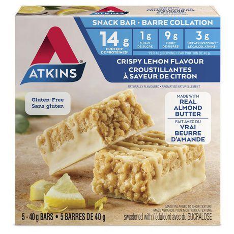 Atkins Crispy Lemon Flavour Snack Bars - image 1 of 4