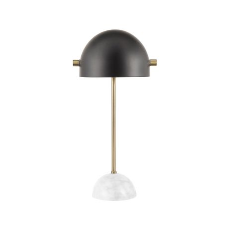 Bello Contemporary Table Lamp in Walnut and Black by LumiSource - image 6 of 9