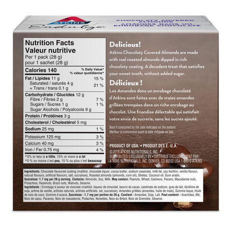 Atkins Endulge Chocolaty Covered  Almonds - image 2 of 3