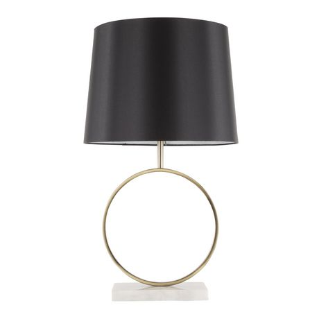 Compass Contemporary Table Lamp in Walnut and Black by LumiSource - image 5 of 9