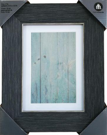 Cadre photo hometrends 5 x 7 po d'effet bois en gris - image 1 de 1