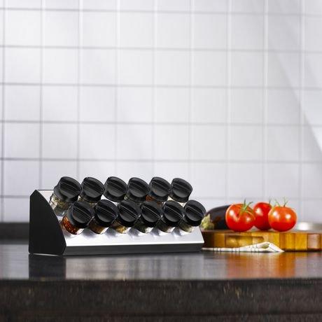Support pices de 12 bouteilles wedge de trudeau maison for Accessoires cuisine trudeau