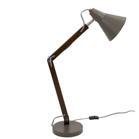 Oregon Industrial Table Lamp in Walnut and Black by LumiSource - image 2 of 8