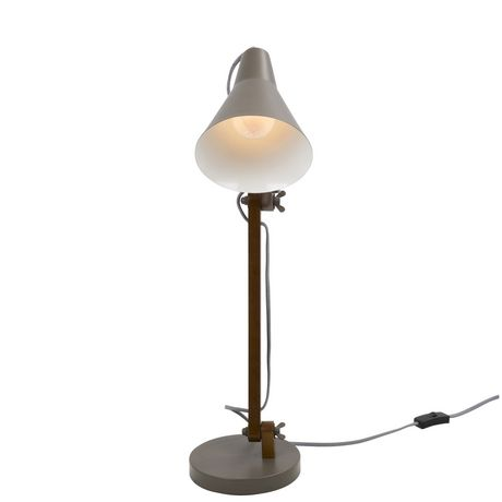Oregon Industrial Table Lamp in Walnut and Black by LumiSource - image 5 of 8