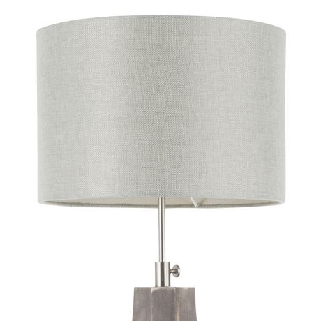Wishbone Contemporary Table Lamp in Walnut and Black by LumiSource - image 6 of 9