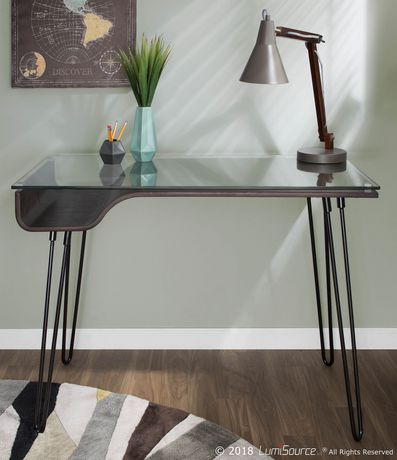 Oregon Industrial Table Lamp in Walnut and Black by LumiSource - image 8 of 8