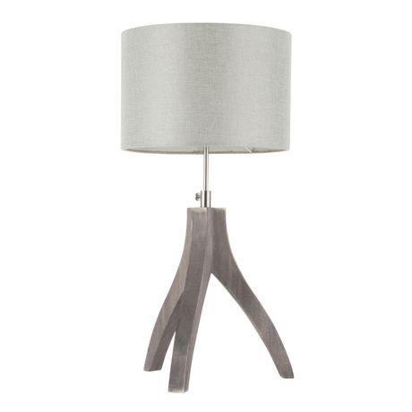 Wishbone Contemporary Table Lamp in Walnut and Black by LumiSource - image 1 of 9