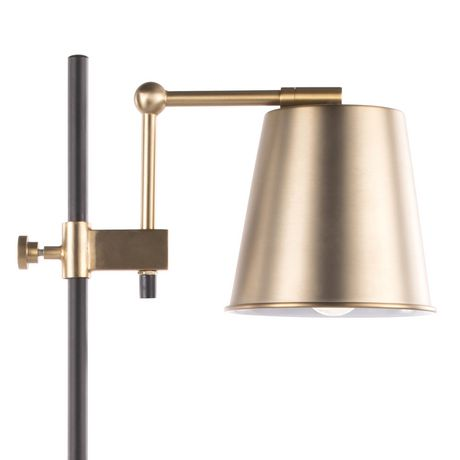 Metric Industrial Table Lamp in Walnut and Black by LumiSource - image 8 of 9
