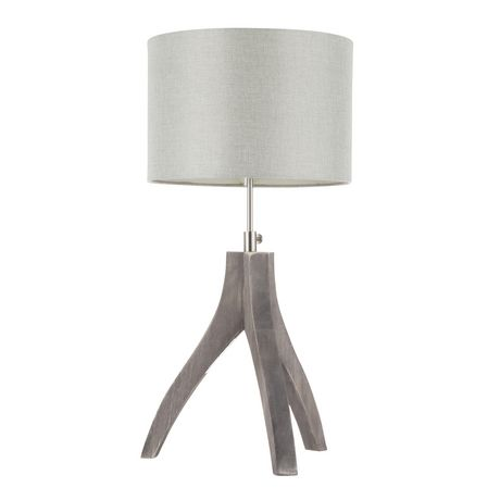 Wishbone Contemporary Table Lamp in Walnut and Black by LumiSource - image 4 of 9