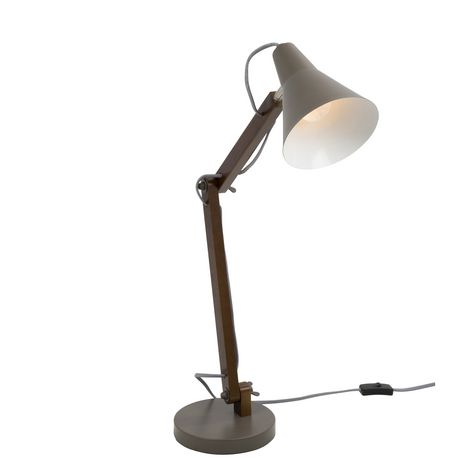 Oregon Industrial Table Lamp in Walnut and Black by LumiSource - image 1 of 8