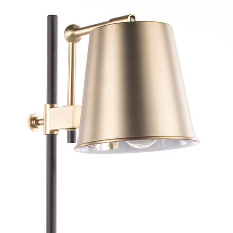 Metric Industrial Table Lamp in Walnut and Black by LumiSource - image 7 of 9