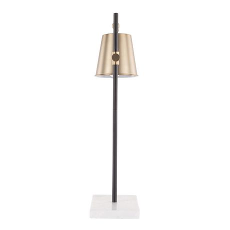 Metric Industrial Table Lamp in Walnut and Black by LumiSource - image 5 of 9