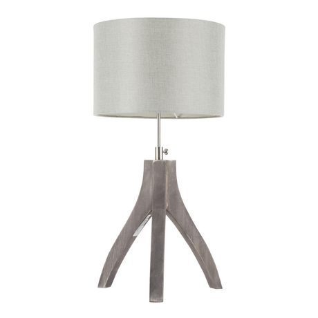 Wishbone Contemporary Table Lamp in Walnut and Black by LumiSource - image 5 of 9