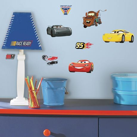 Roommates disney pixar cars 3 peel and stick wall decals for Disney cars large wall mural