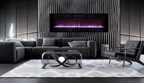 Paramount Premium 72 Quot Slim Wall Mount Electric Fireplace