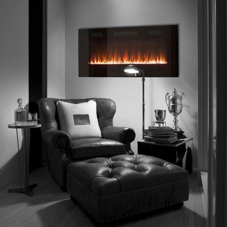 Paramount Premium 50 Slim Wall Mount Electric Fireplace Walmart